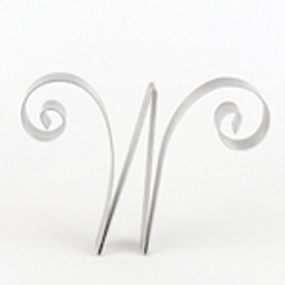 "Letter ""W"" Metal Letter Cake Top - 5"" Scroll"