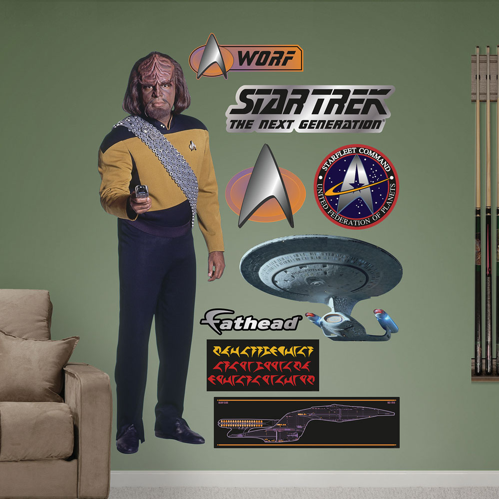 Lieutenant Worf REALBIG Wall Decal