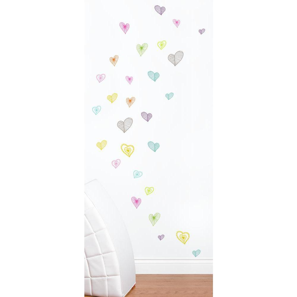 Light Hearts Decal