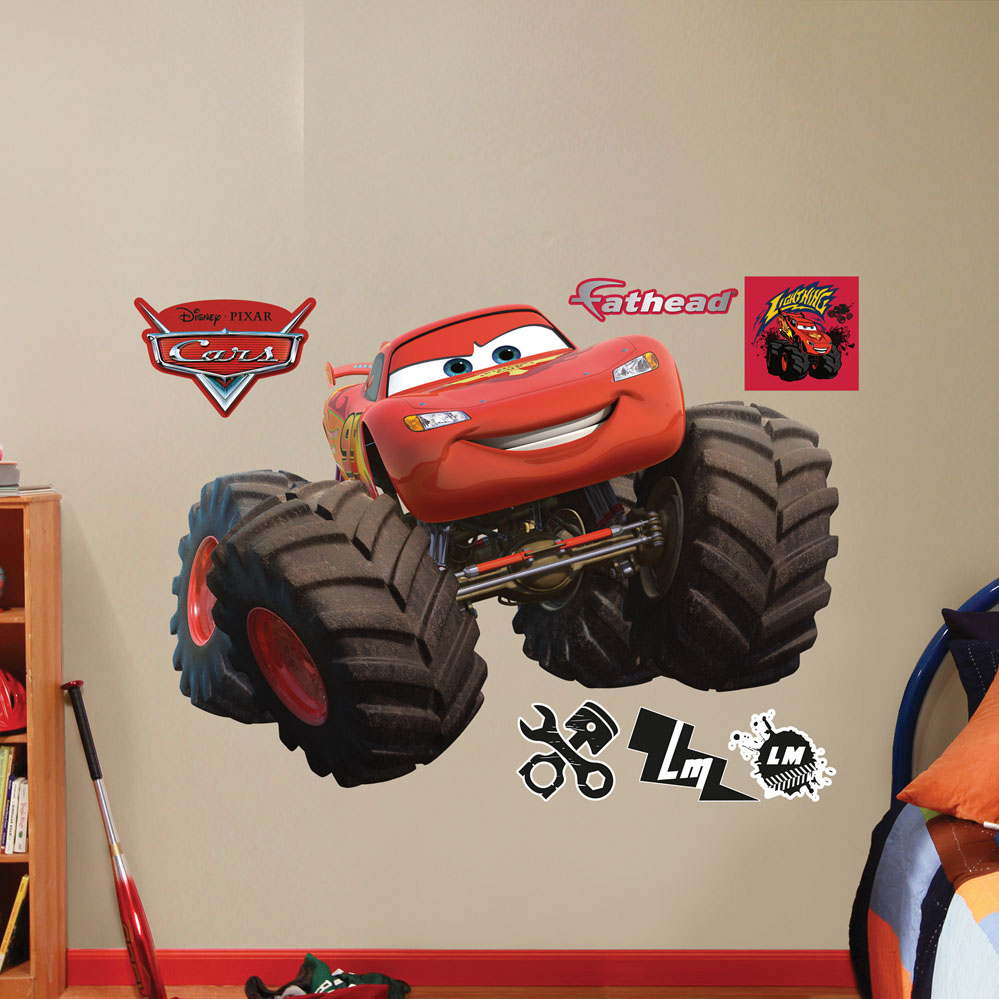 Lightning McQueen Monster Truck Wall Decal