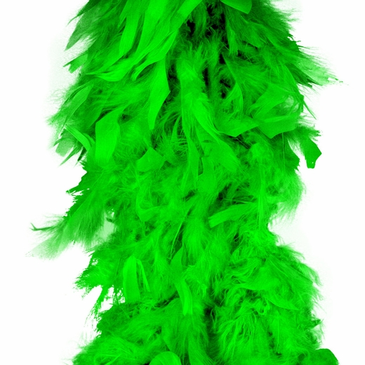 Lime Green Feather Boa (6', 60 grams)
