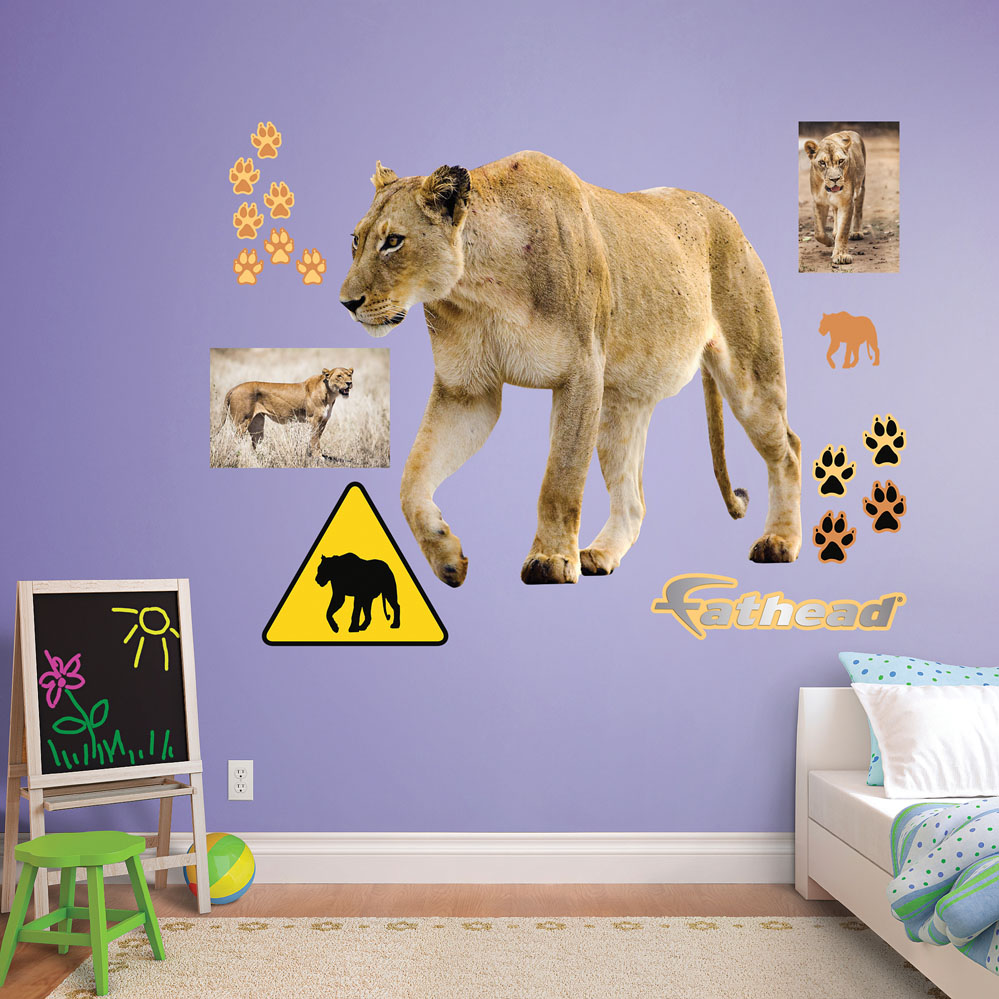 Lioness REALBIG Wall Decal