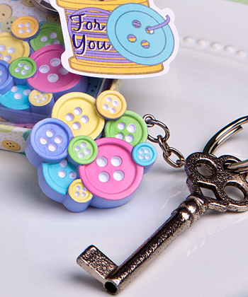 Little Buttons Collection Key Chain Favors