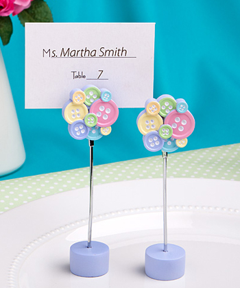 Little Buttons Collection Place Card Photo Holder