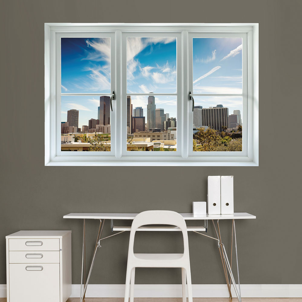 Los Angeles Skyline: Instant Window Wall Decal