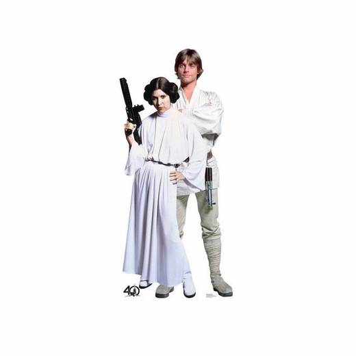 Luke and Leia Star Wars 40th Cardboard Cutout