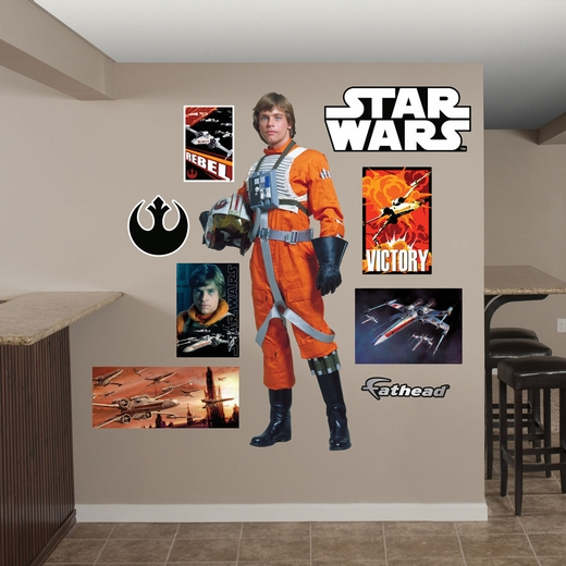 Luke Skywalker Rebel Pilot REALBIG Wall Decal