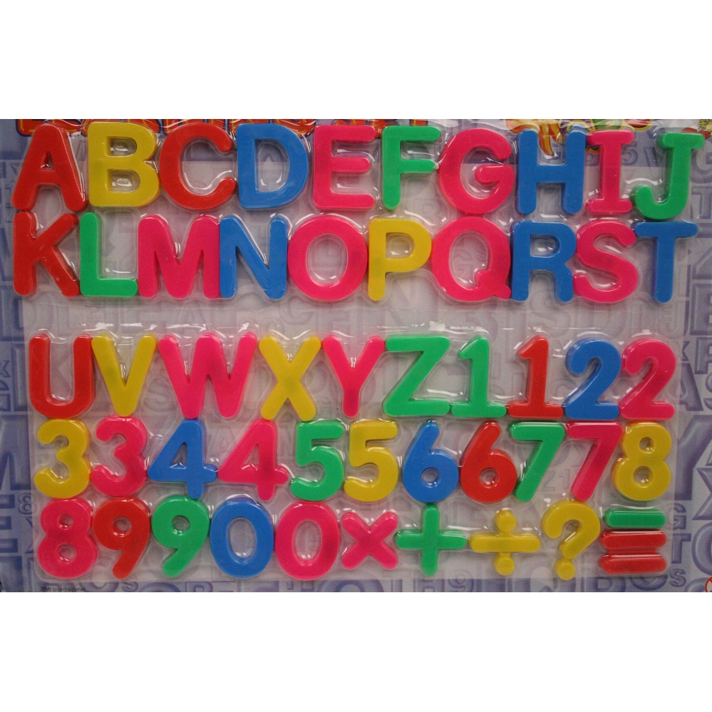 magnetic letters and numbers With magnetic letters and numbers