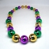 Mardi Gras Big Beads Necklace