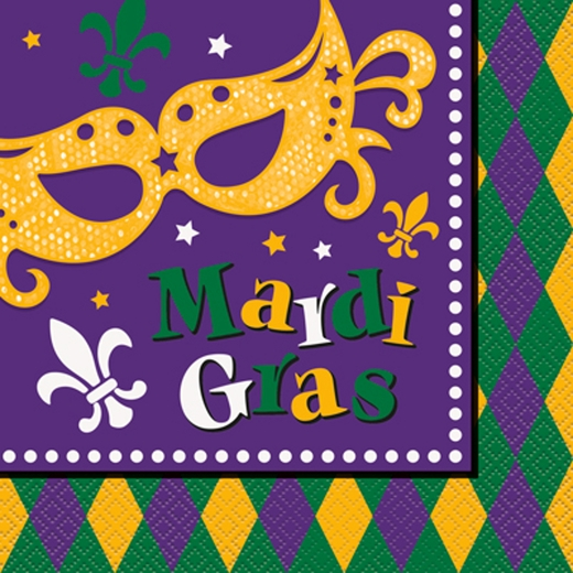 Mardi Gras Dinner Napkins