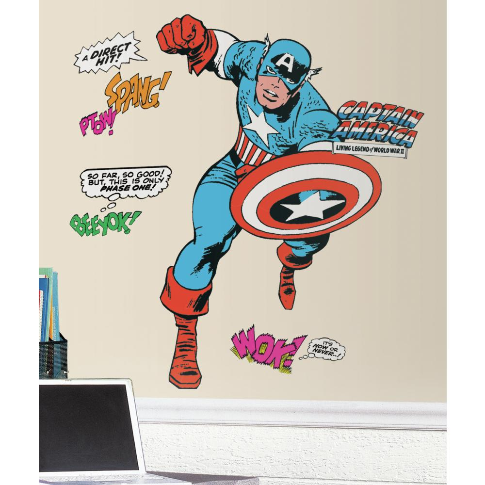 Marvel Classic Captain America Giant Decal
