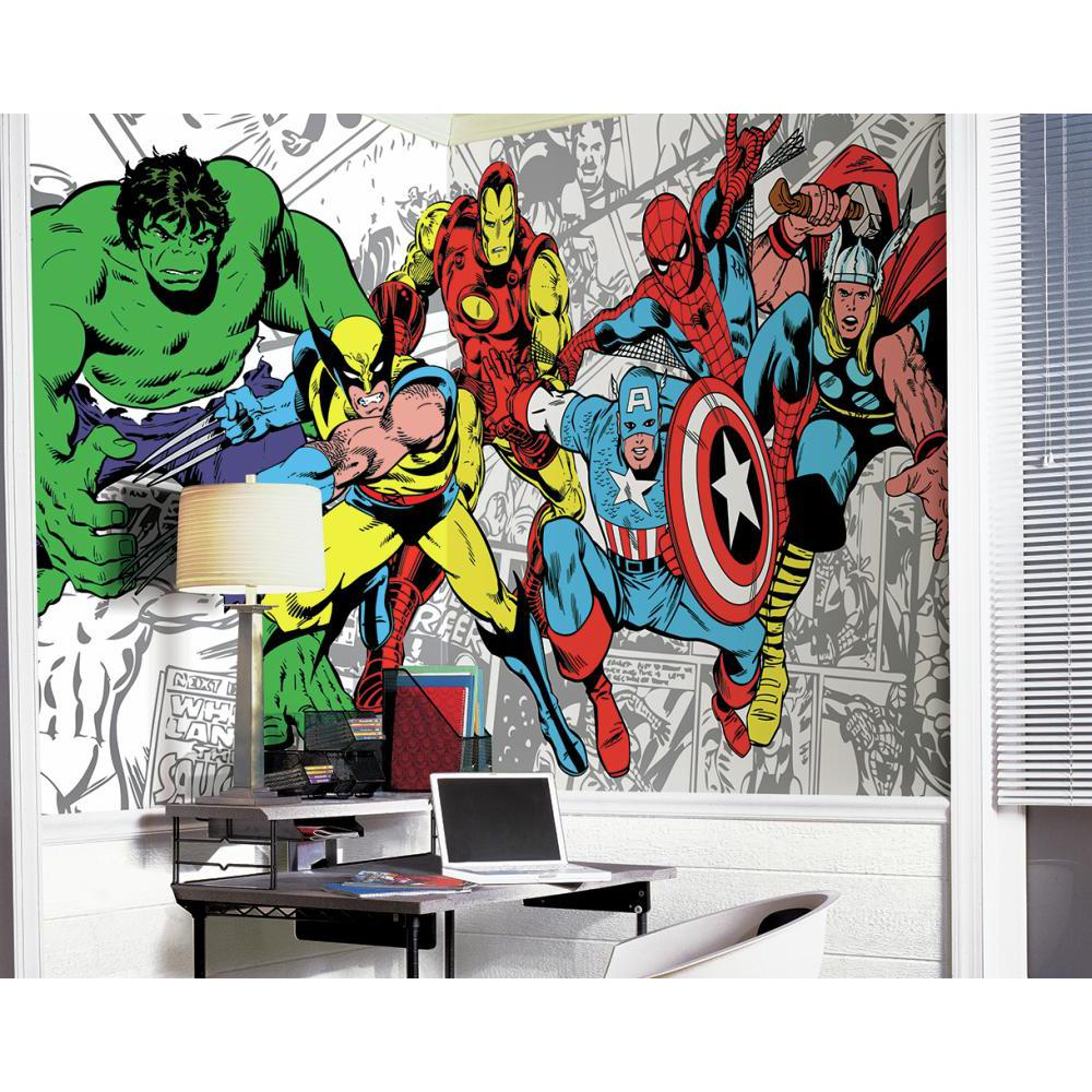 Marvel classics character mural for Character mural