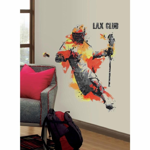 Mens Lacrosse Champion Giant Decal