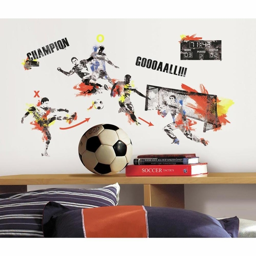 Mens Soccer Champion Decal