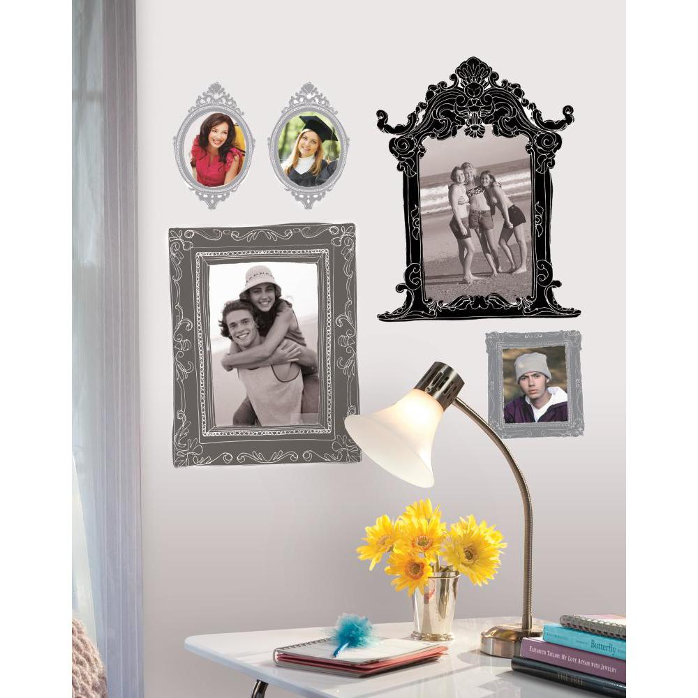 Metallic Black And Silver Frames Giant Decal
