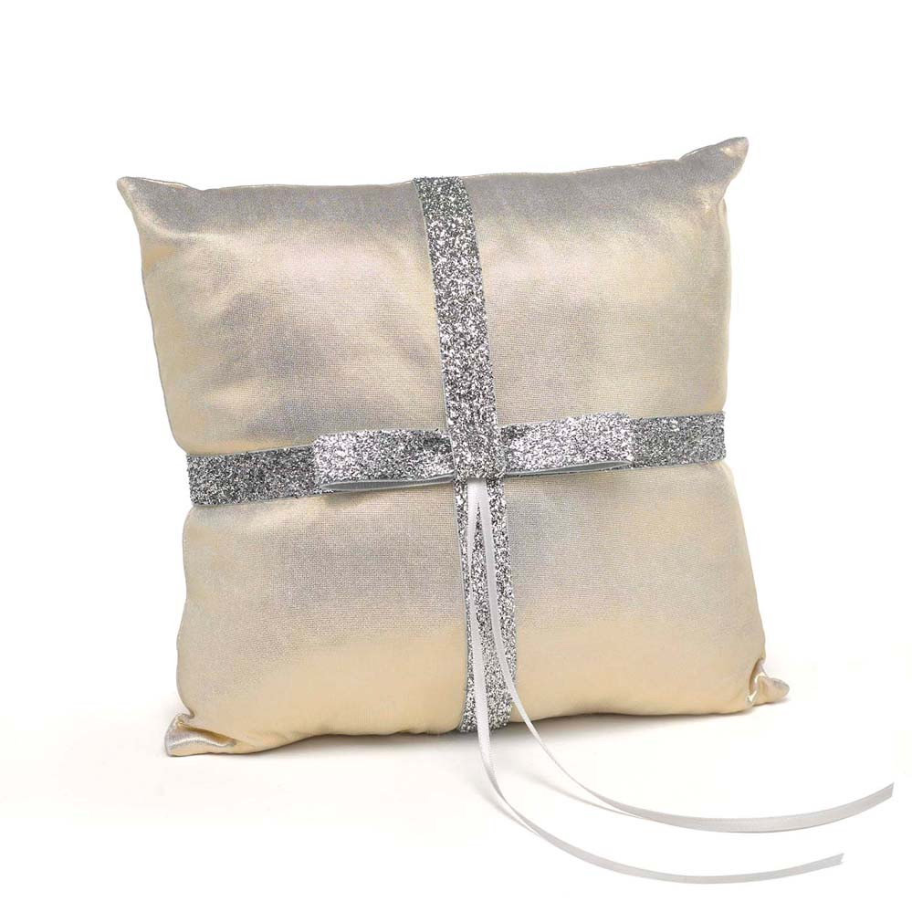 Metallic Sparkle Ring Pillow