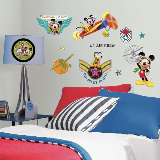 Mickey And Friends-Clubhouse Pilot Decal