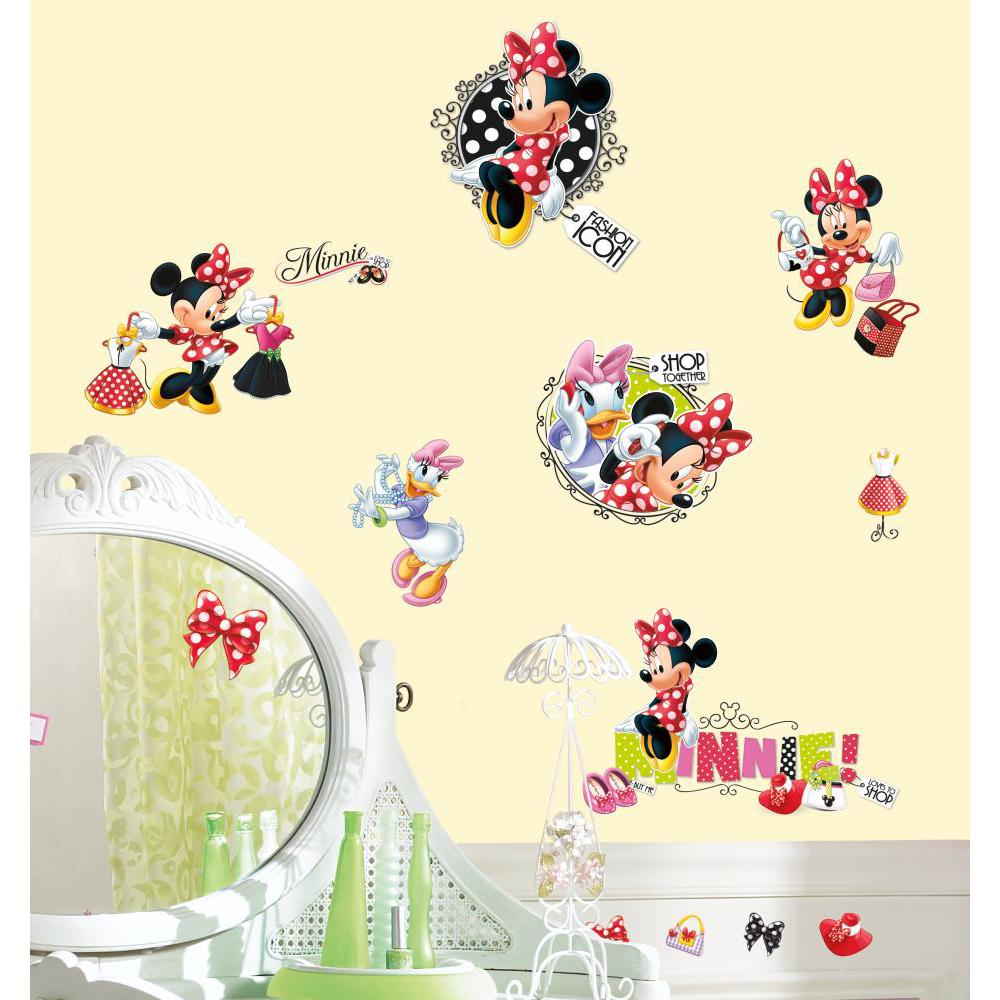 Mickey And Friends-Minnie Loves to Shop Decal