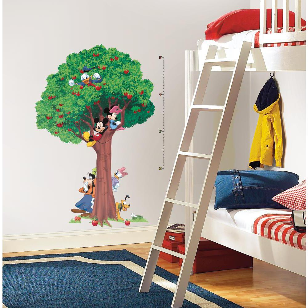 Mickey And Friends Peel/Stick INCHES Growth Chart