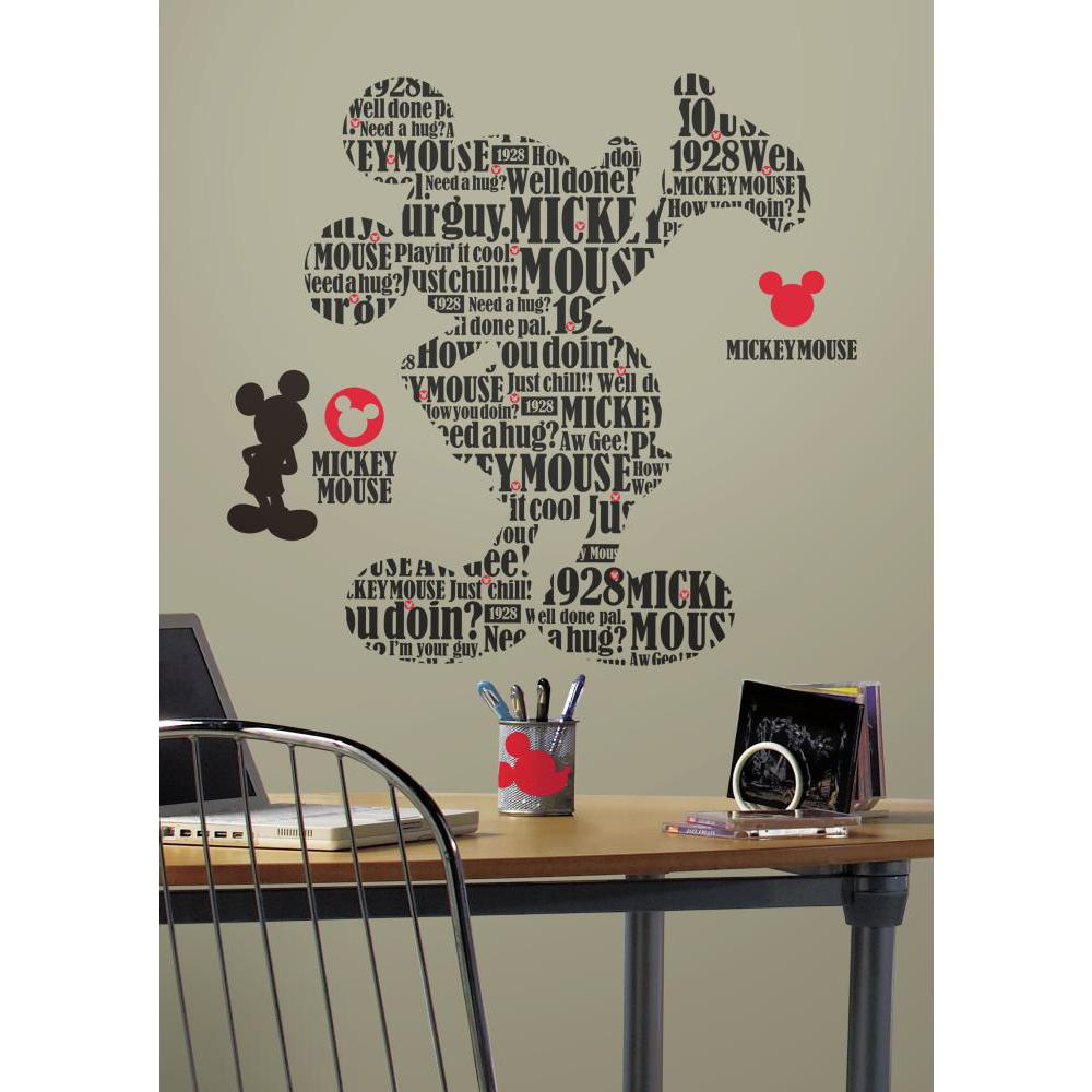 Mickey And Friends-Typography Mickey Mouse Decal