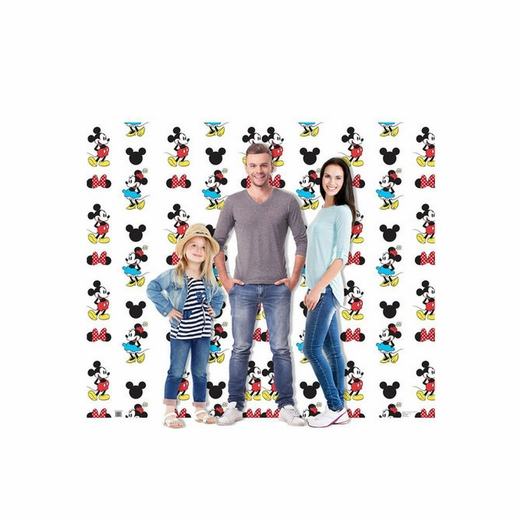 Mickey and Minnie Step and Repeat Double Wide