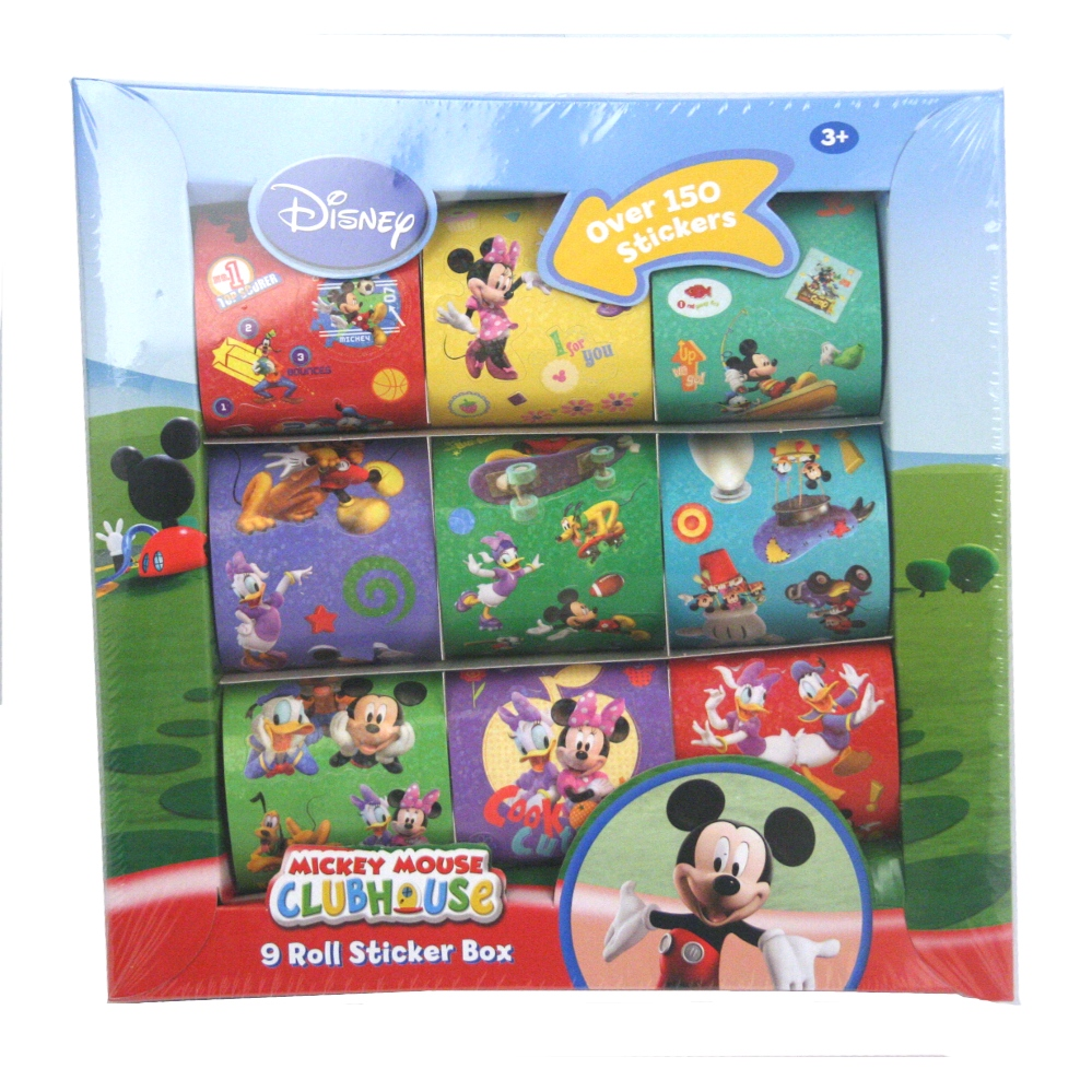mickey mouse clubhouse deluxe sticker set. Black Bedroom Furniture Sets. Home Design Ideas