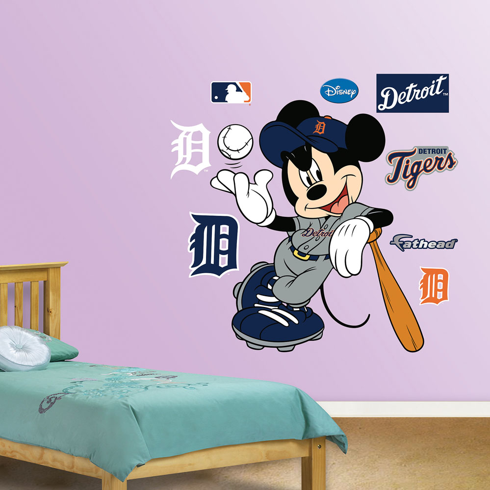 MLB-Disney Detroit Tigers Mickey Mouse Wall Decal