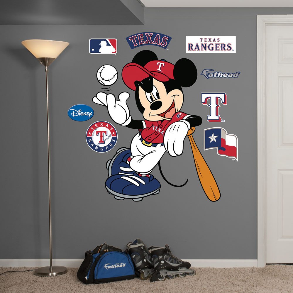 MLB-Disney Texas Rangers Mickey Mouse Wall Decal