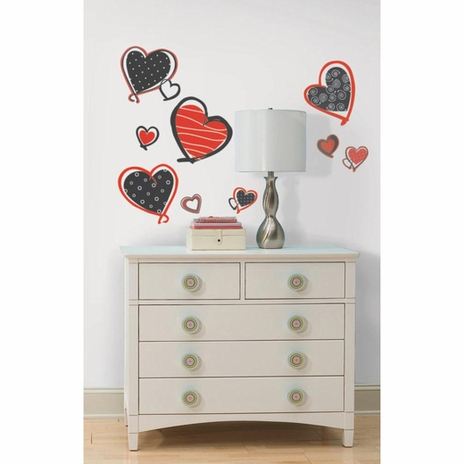 Mod Heart Peel And Stick Decal