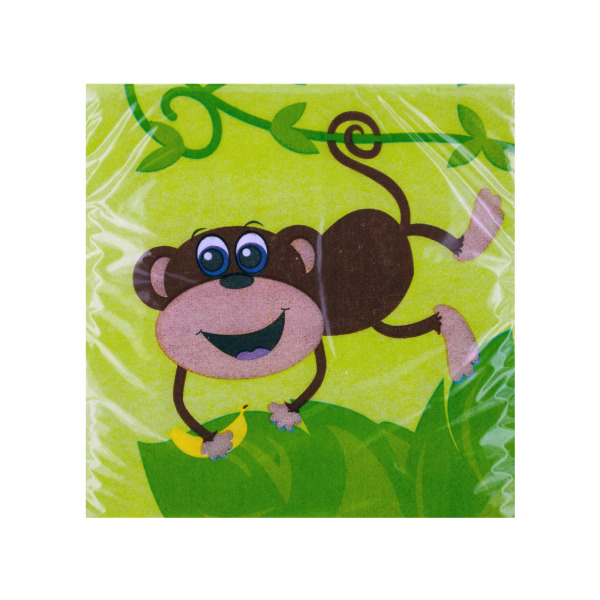 Monkeys Beverage Napkin
