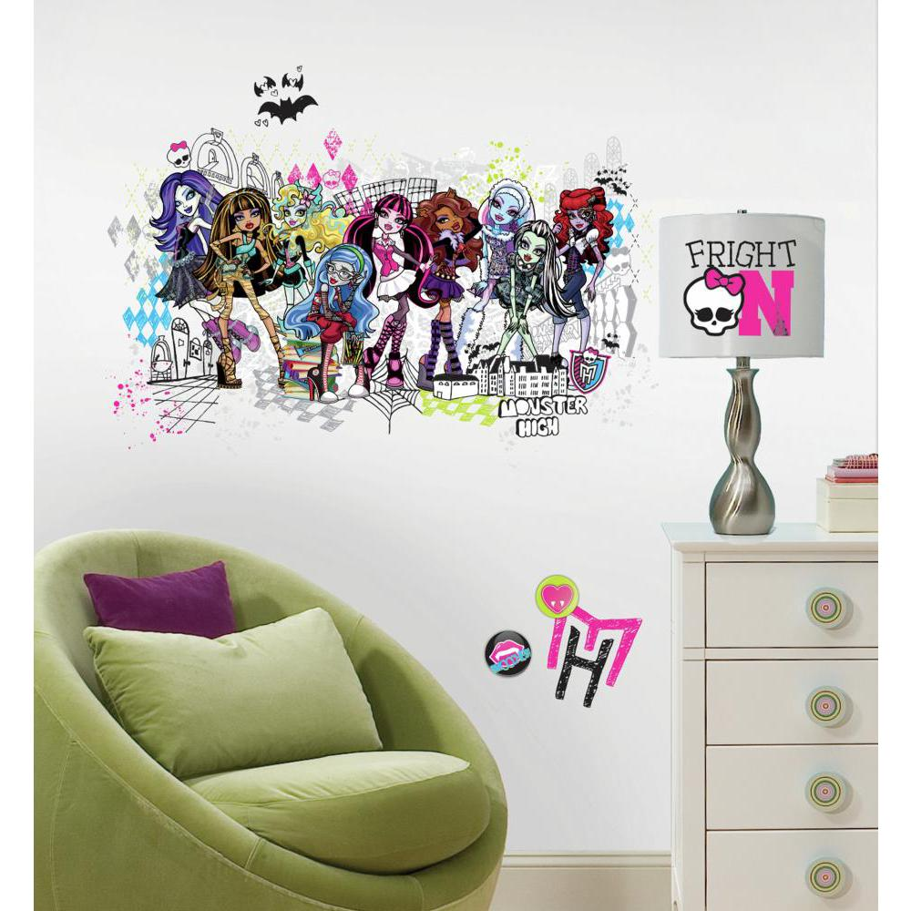 Monster High Group Giant Decal