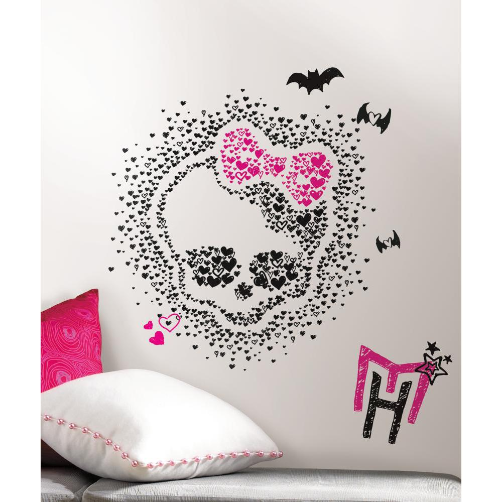 Monster High Heart Skullette Peel And Stick Decal