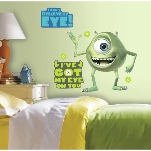 Monsters Inc Giant Mike Wazowski Decal