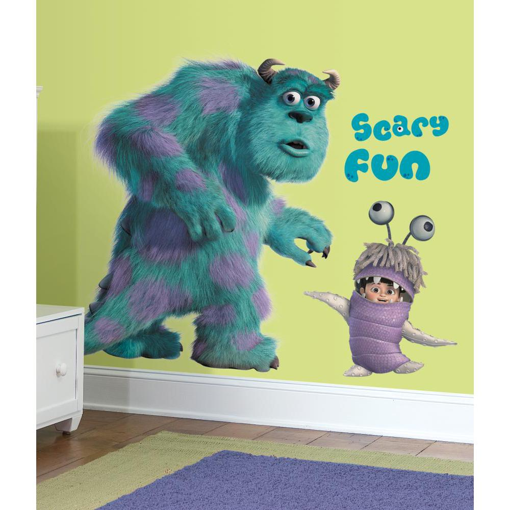 Monsters Inc Giant Sully And Boo Peel/ Stick Decal