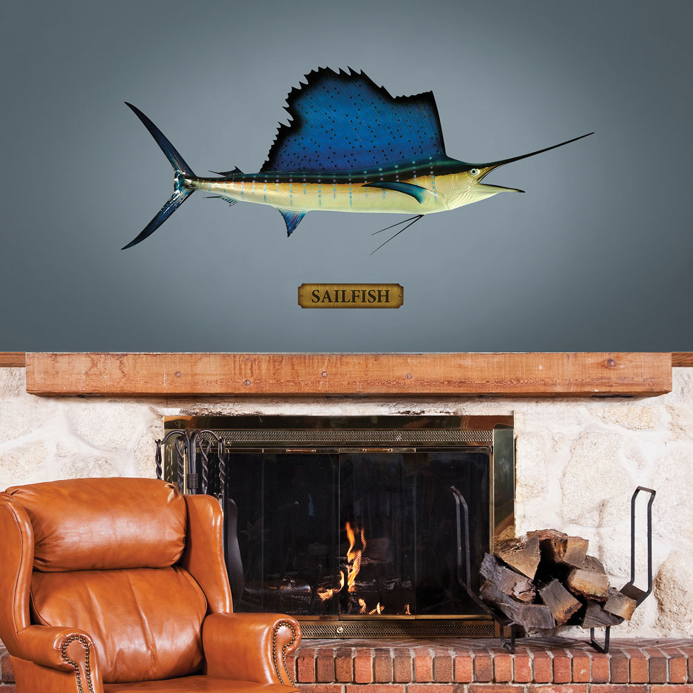 Mounted Sailfish REALBIG Wall Decal