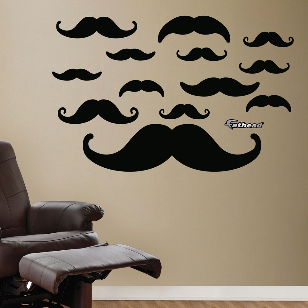Moustache Collection REALBIG Wall Decal