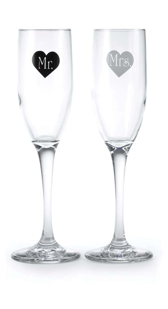 Mr And Mrs Heart Flutes