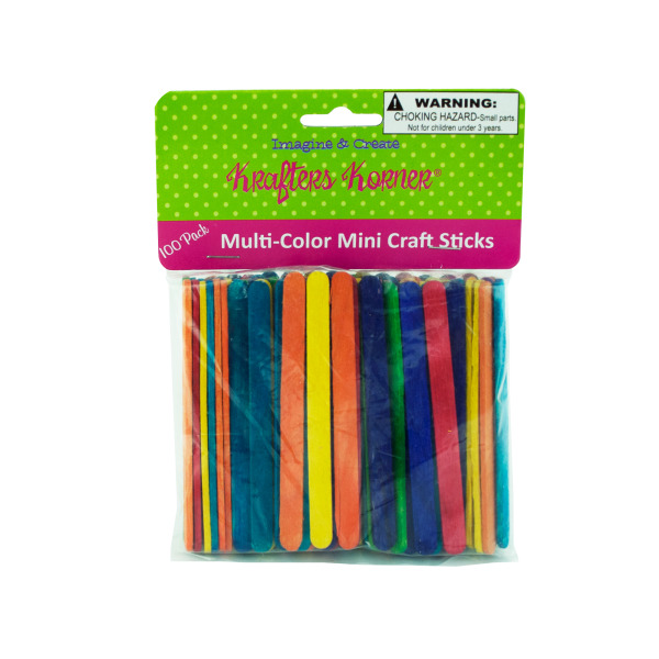 Multi-Color Mini Craft Sticks