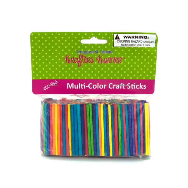 Multi-Colored Wood Craft Matchsticks