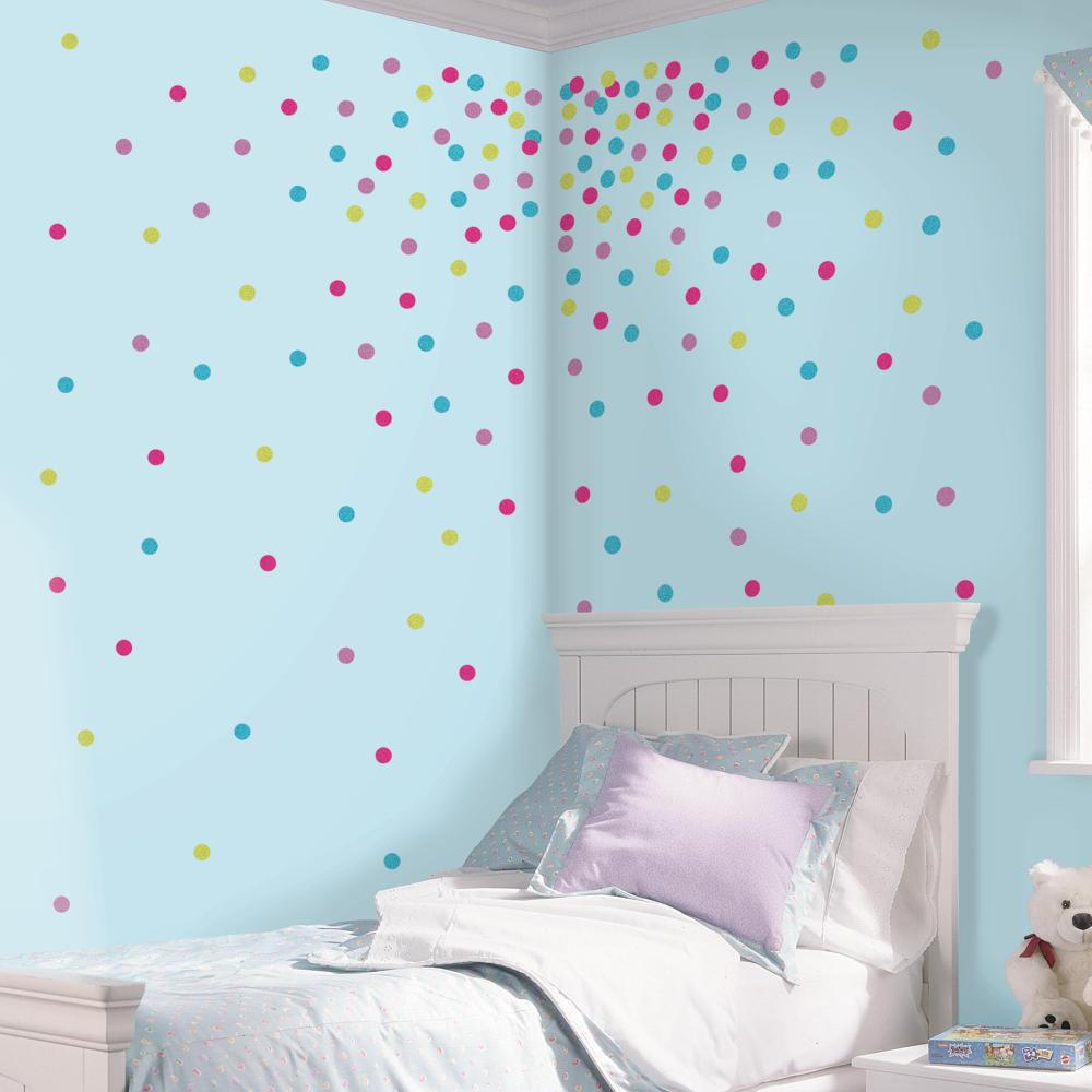 Multi Glitter Confetti Dots Decal