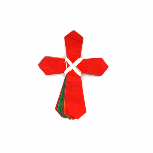 Multicolored Cross-Shaped Garland
