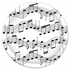 """Music Notes Cake Plates - 7"""""""