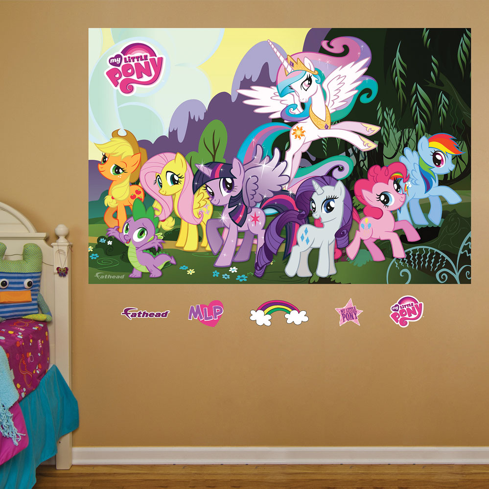 My Little Pony Mural REALBIG Wall Decal
