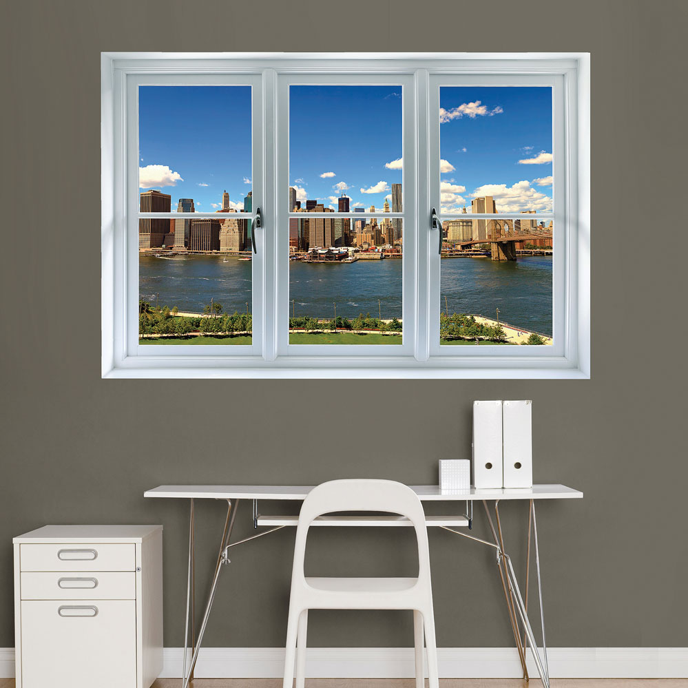 New York Skyline: Instant Window Wall Decal