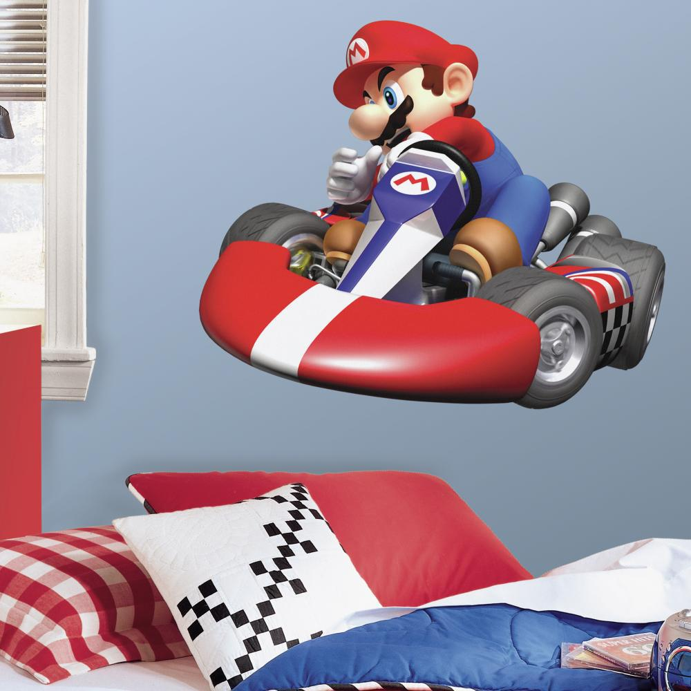 Nintendo-Mario Kart Peel And Stick Giant Wall Decal