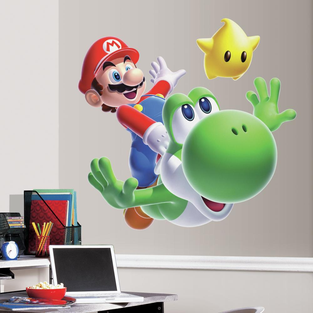 Nintendo-Mario Yoshi Peel And Stick Giant Wall Decal