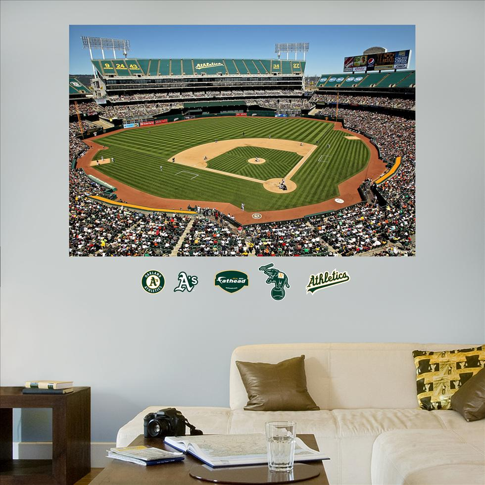 Oakland Athletics  Coliseum Stadium Mural-Fathead