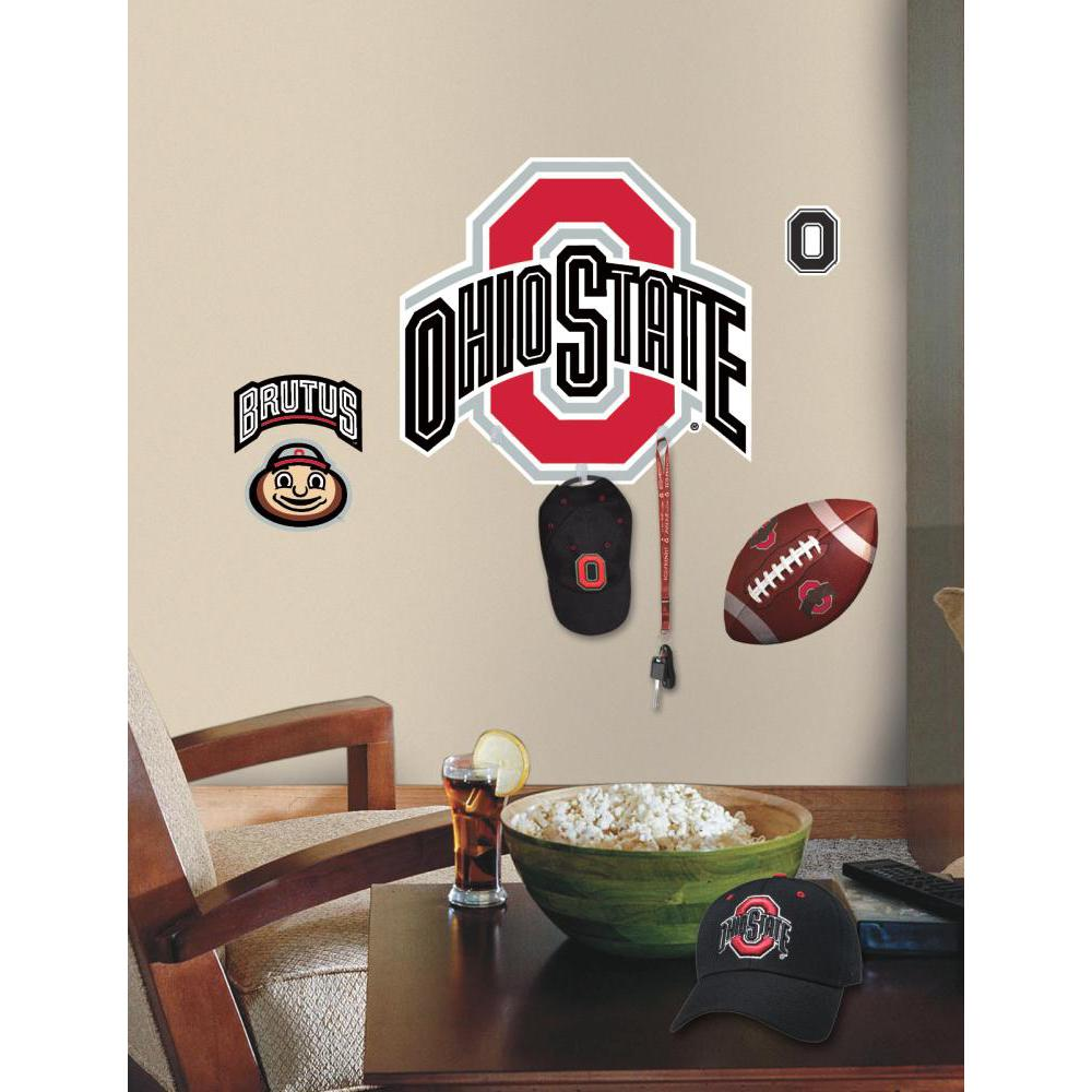 Ohio State Peel And Stick Giant Wall Decal w-Hooks