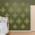 Olive Fleur de Lis Collection REALBIG Wall Decal