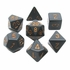 Chessex Opaque Black With Gold Polyhedral 7 Die Set